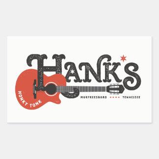 Hanks Gitarren-Aufkleber Rechteckiger Aufkleber