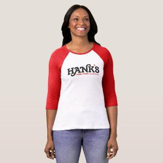 Hanks Honky Tonk das 3/4 Rot (der Frauen) T-Shirt