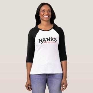 Hanks Honky Tonk das 3/4 Schwarze (der Frauen) T-Shirt