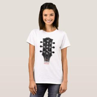 Hanks T-Stück des Gitarren-Kopf-(Frauen) T-Shirt