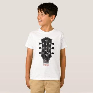 Hanks T-Stück des Gitarren-Kopf-(Kinder) T-Shirt