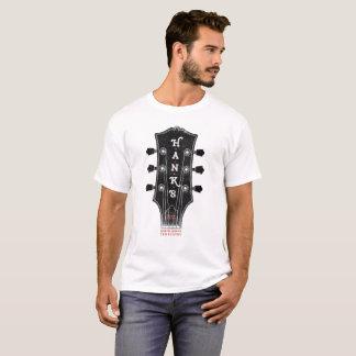 Hanks T-Stück des Gitarren-Kopf-(Männer) T-Shirt