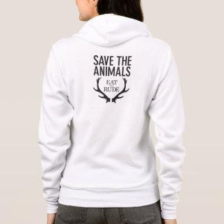 Hannibal essen, das unhöfliche/retten den Tieren Hoodie