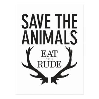 Hannibal Lecter - essen Sie das unhöfliche (retten Postkarte