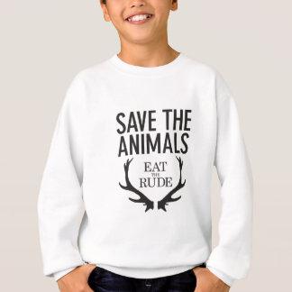 Hannibal Lecter - essen Sie das unhöfliche (retten Sweatshirt