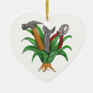 Hannya Maske Koi Keramik Herz-Ornament