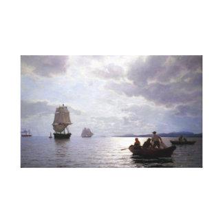 Hans Frederik Gude der Oslo-Fjord Leinwanddruck