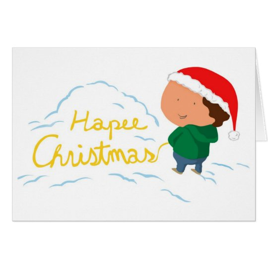 Hapee Weihnachten Grußkarte