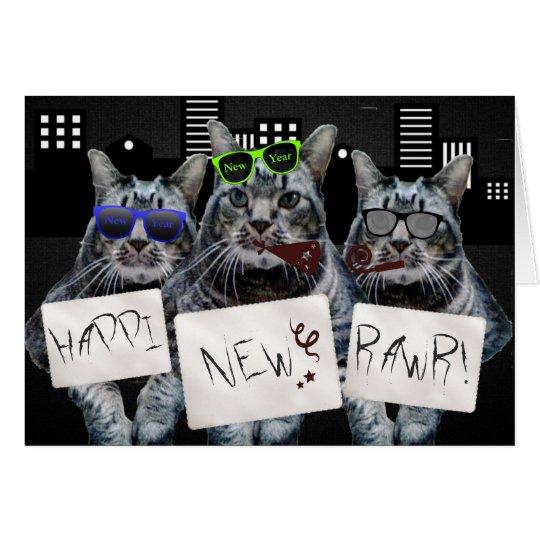 Happi neues Rawr Miezekatze-Trio Grußkarte