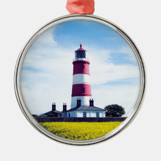 Happisburgh Leuchtturm Silbernes Ornament