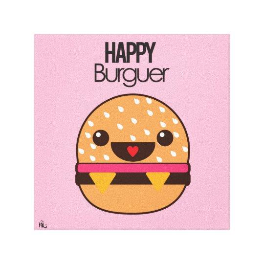 Happy Burguer Leinwanddruck