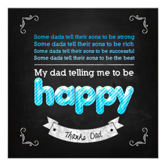Happy Father s day Individuelle Ankündigung