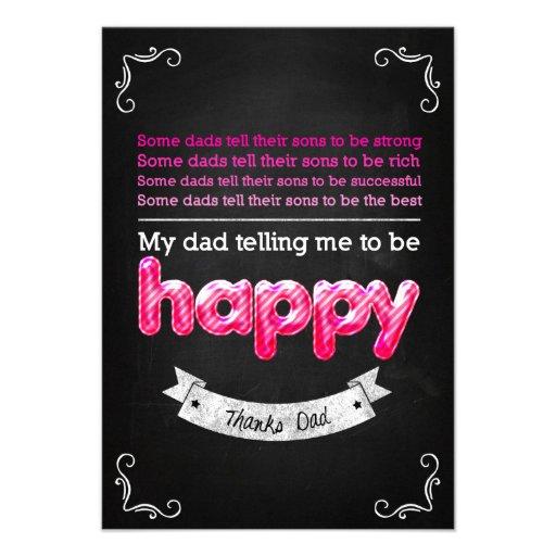 Happy Father s day Personalisierte Ankündigungskarten