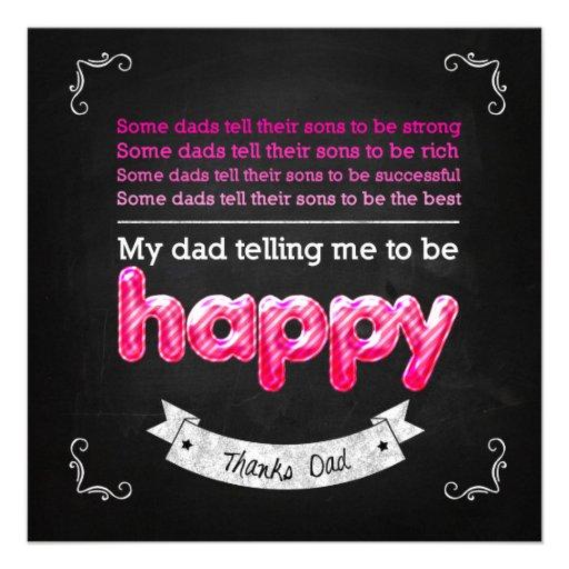Happy Father's day Individuelle Ankündigskarten
