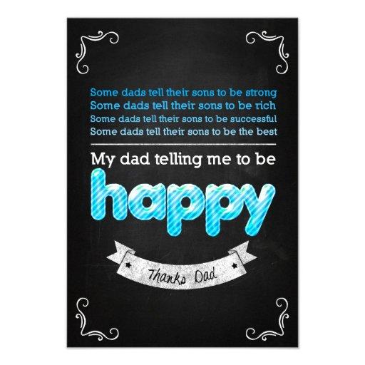 Happy Father's day Individuelle Ankündigungskarte