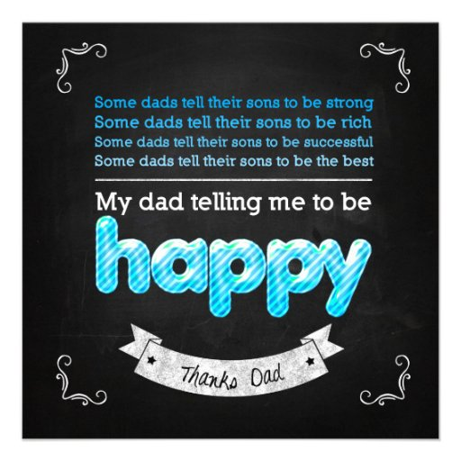 Happy Father's day Individuelle Ankündigung