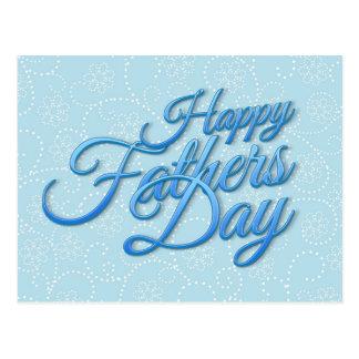Happy Fathers Day Postkarte