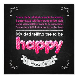 Happy Father's day Quadratische 13,3 Cm Einladungskarte