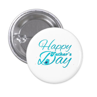 Happy Fathers Day Runder Button 2,5 Cm
