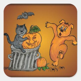 Happy Halloween! 5 Quadratischer Aufkleber