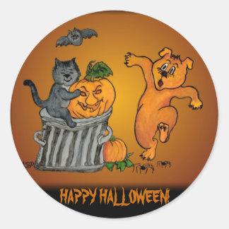 Happy Halloween! 5 Runder Aufkleber