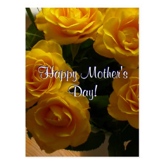 Happy Mother's Day Yellow Roses Postcard