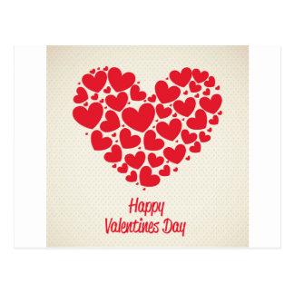 Happy Valentines day Postkarte