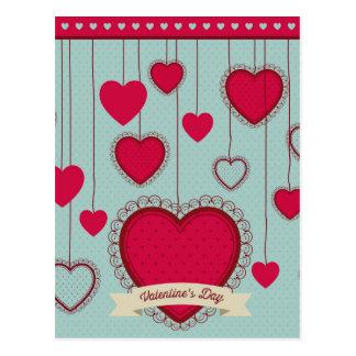 happy Valentines Postkarte