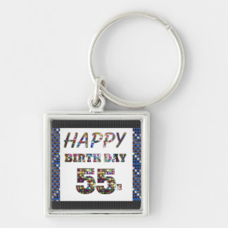 happybirthday alles Gute zum Geburtstag 55 55. Schlüsselanhänger