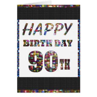 happybirthday alles Gute zum Geburtstag 90 90. Karte