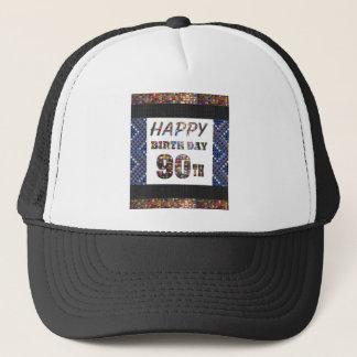 happybirthday alles Gute zum Geburtstag 90 neunzig Truckerkappe