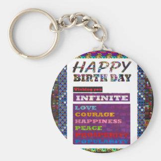 HappyBirthday Geschenke der alles- Gute zum Schlüsselanhänger