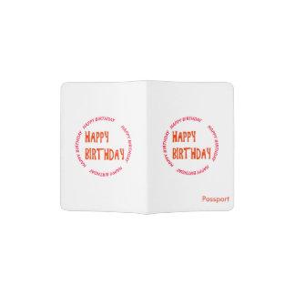 HAPPYbirthday rundes Emblem des ALLES- GUTE ZUM Passhülle