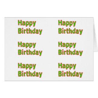 HappyBirthday Smaragdgrün: ART101 deckte Muster Karte