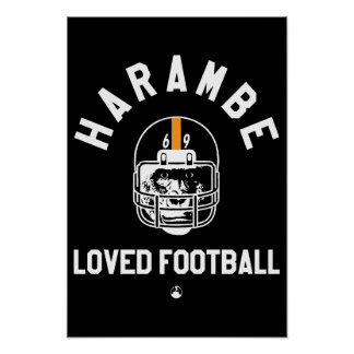 Harambe liebte Fußball Poster