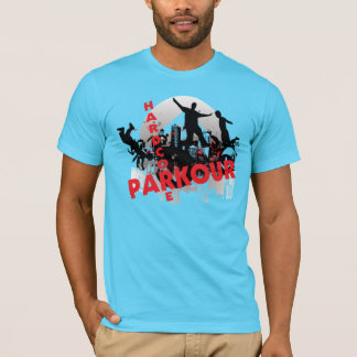 Hardcore Parkour Grunge-Stadt T-Shirt