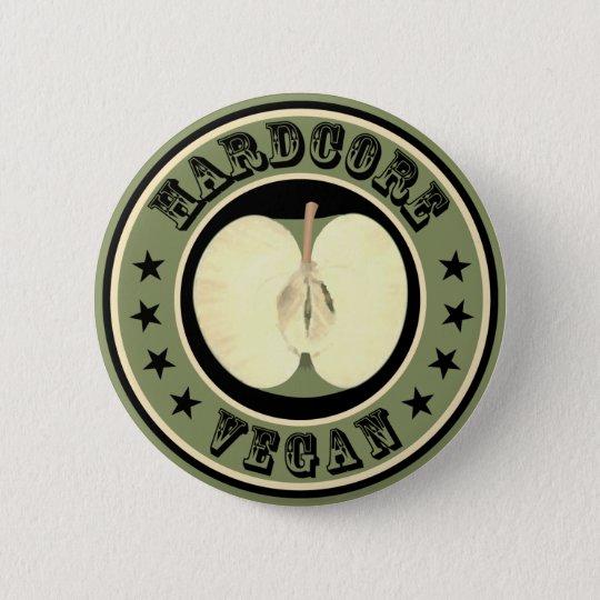 Hardcore vegan runder button 5,7 cm