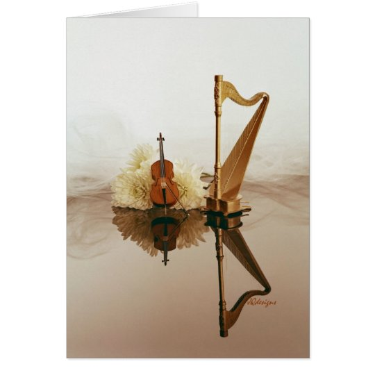 Harfen- u. Cellokarte Grußkarte