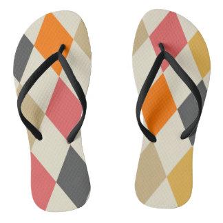 Harlekin-Art Flip Flops