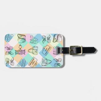 Harlekin-Paris-Einkaufen Gepäckanhänger