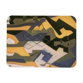 Harlequin à un Tableau par Juan Gris, cubisme Magnets Rectangulaire