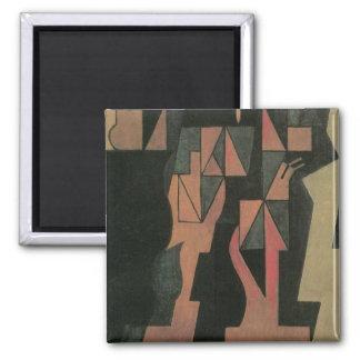 Harlequin par Juan Gris, cubisme vintage Aimants Pour Réfrigérateur