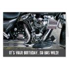 Harley Motorrad-Geburtstagskarte Karte