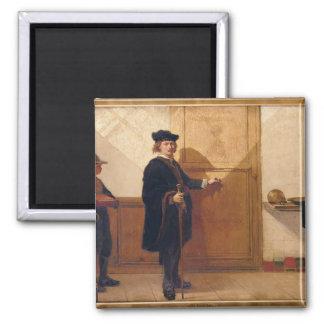 Harmensz van Rijn Rembrandt (1606-69) an klopfend Quadratischer Magnet