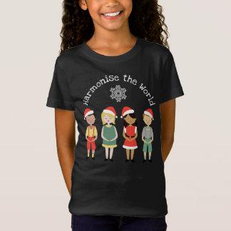 Harmonisieren Sie das Weltweihnachten T-Shirt