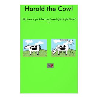 Harold die Kuh-Flieger 14 X 21,6 Cm Flyer