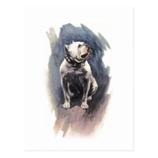 Harrison Fisher der Tag der Hundebulldogge Postkarte