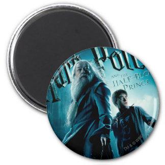 Harry Potter et Dumbledore sur les roches 1 Magnet Rond 8 Cm