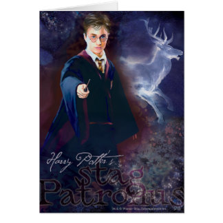 Harry Potters Hirsch Patronus Grußkarte