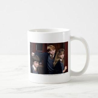 Harry, Ron, et Hermione Mug Blanc